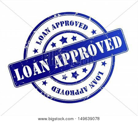 loan approved rubber stamp illustration isolated on white background