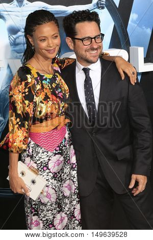 LOS ANGELES - SEP 28:  Thandie Newton, J.J. Abrams at the HBO's