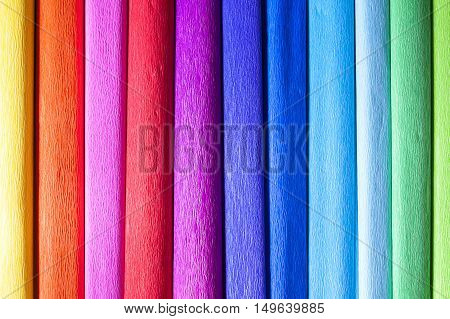 Colourful crape papers pattern - full rainbow colours