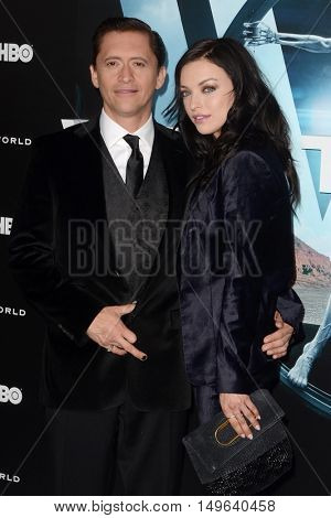 LOS ANGELES - SEP 28:  Clifton Collins Jr., Francesca Eastwood at the HBO's