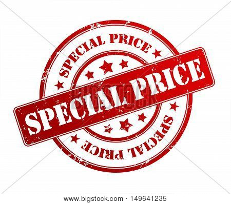 special price rubber stamp illustration isolated on white background