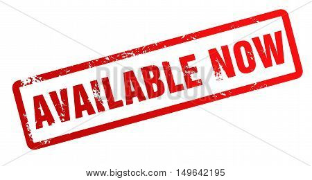 available now rubber stamp illustration isolated on white background