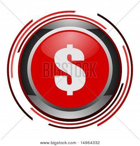 us dollar glossy icon