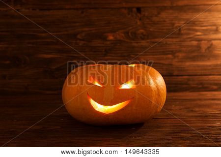 Jack O Lantern. One Halloween Pumpkin.