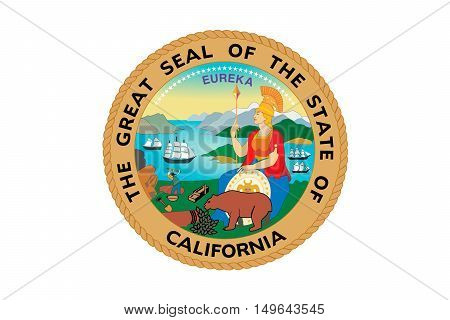 Flag of California is the most populous state in United States.