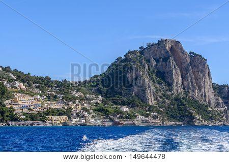 Capri, Italy - June 10: Capri Island On June 10, 2016 In Capri, Italy. The Island Of Capri Is A Very