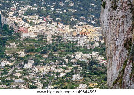 Capri, Italy - June 11: Capri Island On June 11, 2016 In Capri, Italy. The Island Of Capri Is A Very