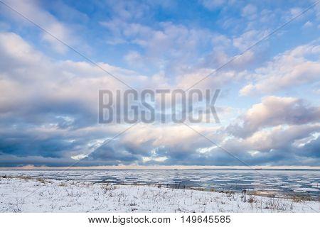 Gulf Of Finland, Russia. Winter Landscape