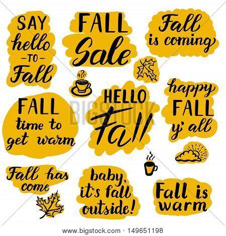 Say Hello To Fall Set