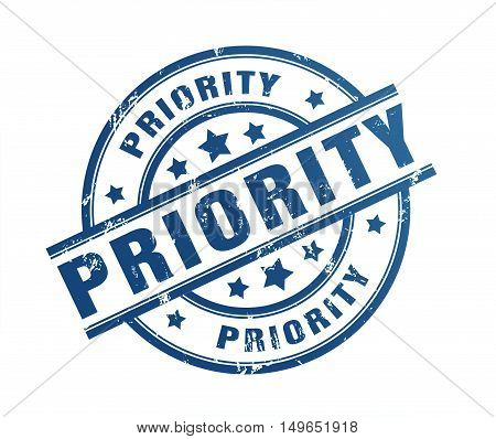 priority rubber stamp illustration isolated on white background
