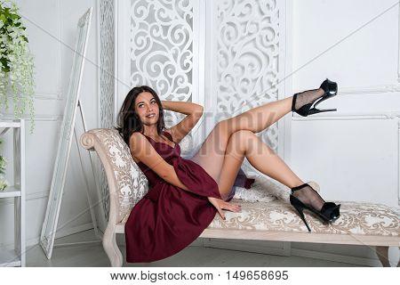 Happy Girl In Dress