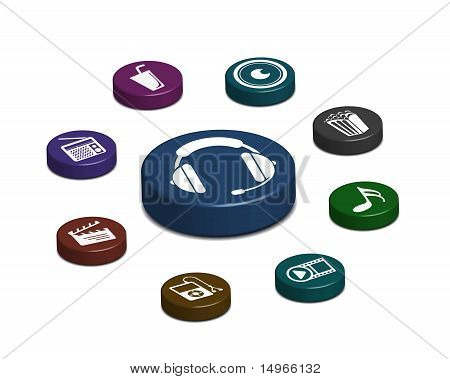 Media Web Icon Set