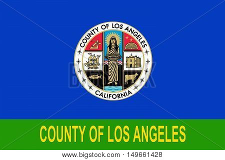 Flag of Los Angeles County in California state United States.