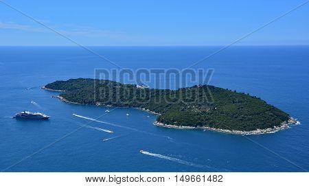 The small island of Lokrum off the coast of Croatia near to Dubrovnik.