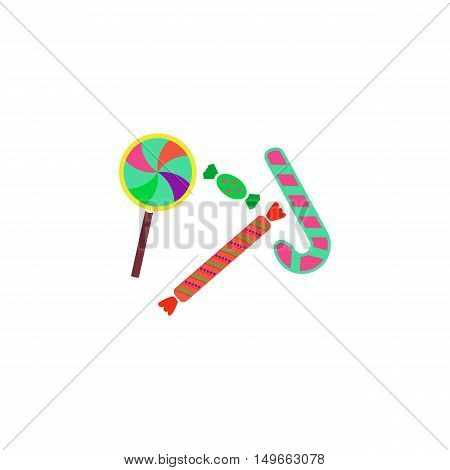 Lollipop candy Icon Vector. Flat simple color pictogram