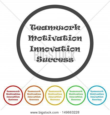 Team & teamwork, motivated people - vector icon