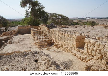 Biblical Tamar park, Arava, South Israel. Remains of Israelite period fortress