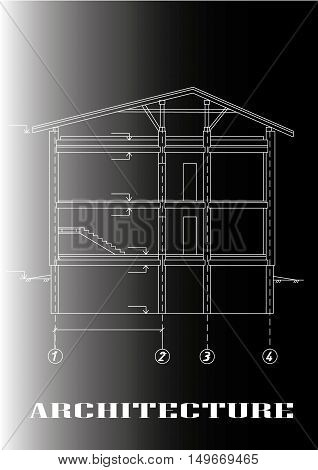 Engineering drawings, designers, fine lines, home - vector