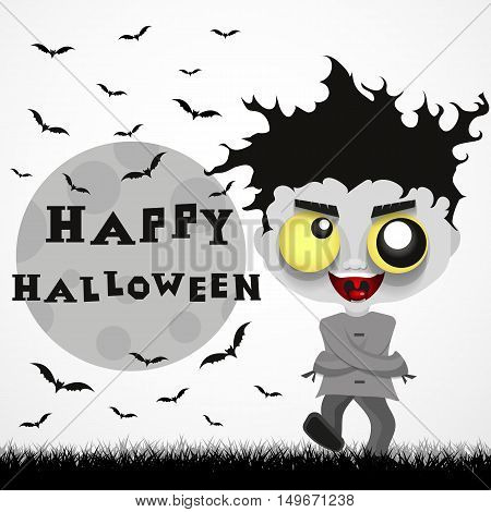 Halloween holiday painted icons of Halloween crazy guy