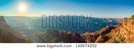 beautiful colorful landscape grand canyon national park arizona panorama