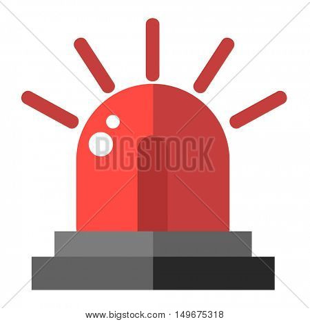 Flasher alarm vector illustration.
