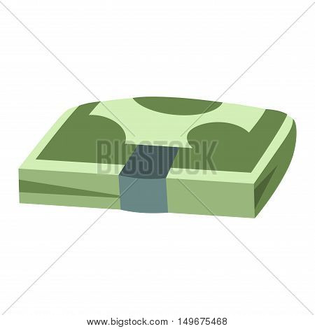 Stack of paper dollar money symbol icon vector isolated. Concept icon for finance, banking, payment. Currency dollar stack money symbols online commerce. Dollar money symbol icon isolated