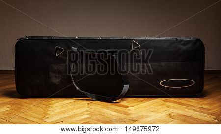 Old Used Suitcase For Bass Guitar