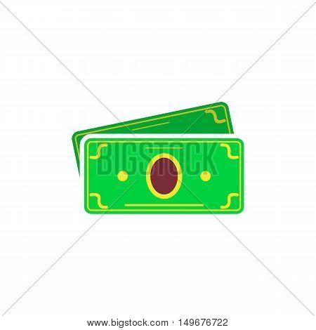 Money Icon Vector. Flat simple color pictogram