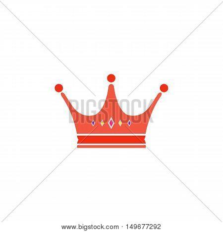 Crown Icon Vector. Flat simple color pictogram