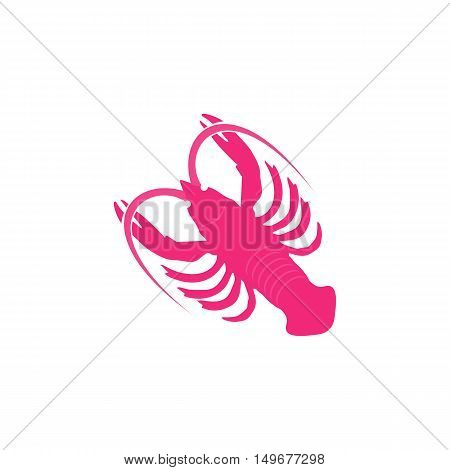 Crayfish Icon Vector. Flat simple color pictogram