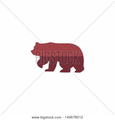 Bear Icon Vector. Flat simple color pictogram