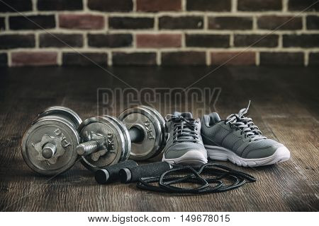 Sports Equipment Sneakers Rope Skipping Dumbbell For Fitness
