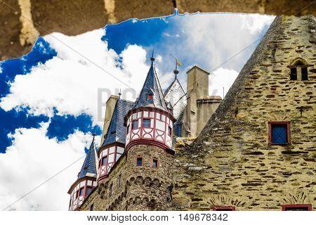 Famous Eltz castle near Koblenz in Germany