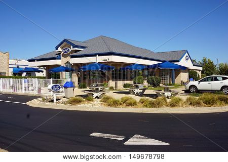 PLAINFIELD, ILLINOIS / UNITED STATES - SEPTEMBER 19, 2016: Culver's Restaurant in Plainfield specializes in frozen custard and butter burgers.