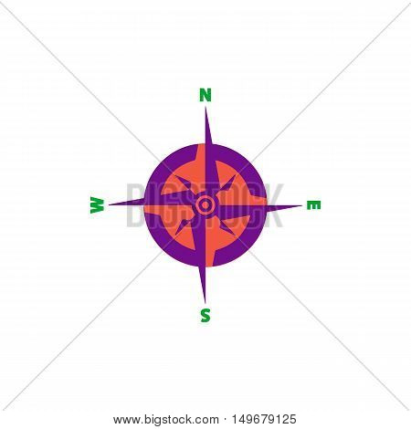Compass Icon Vector. Flat simple color pictogram