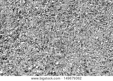 Shiny Silver Gray Foil Texture For Background And Shadow. Crease.