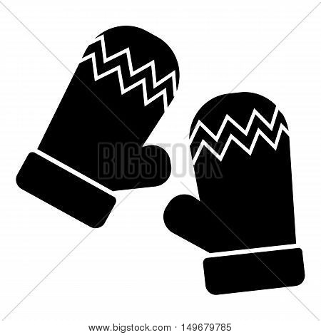 Mittens icon in simple style isolated on white background. Accessory symbol vector illustration