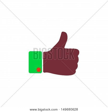 OK Icon Vector. Flat simple color pictogram