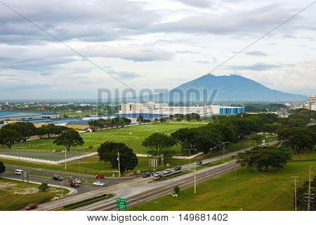 Scenic view of Angeles city and Clark economic zone