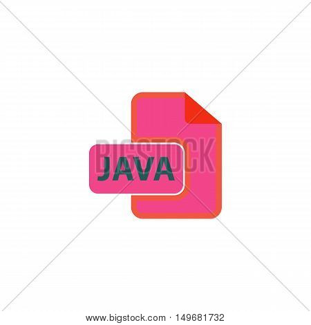 JAVA Icon Vector. Flat simple color pictogram