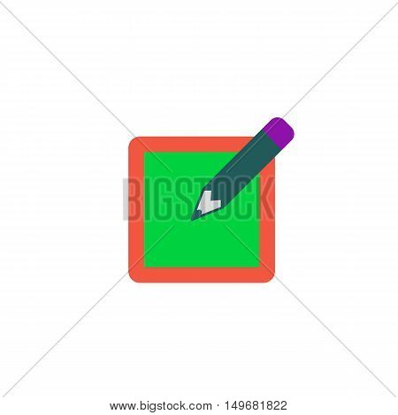 Sign up Icon Vector. Flat simple color pictogram