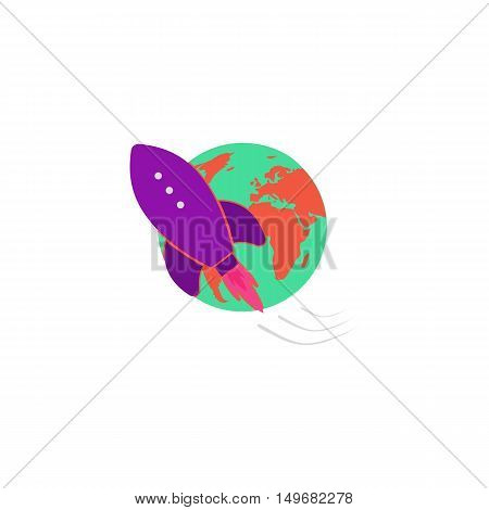 Space Icon Vector. Flat simple color pictogram