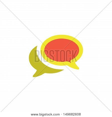 Chat Icon Vector. Flat simple color pictogram