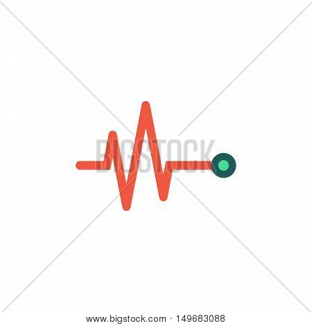 Pulse Icon Vector. Flat simple color pictogram