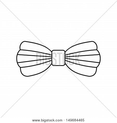 Bow tie icon in outline style isolated on white background vector illustration