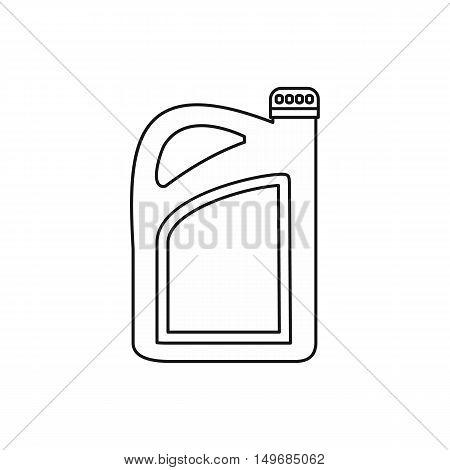 Oil or gasoline canister icon in outline style isolated on white background vector illustration