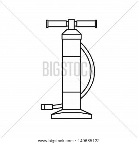 Hand bicycle or car pump icon in outline style isolated on white background vector illustration