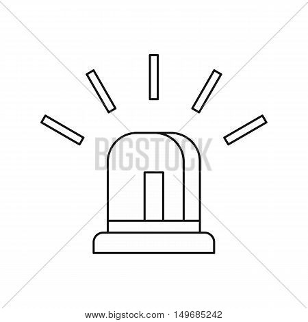 Special police flasher light icon in outline style isolated on white background vector illustration