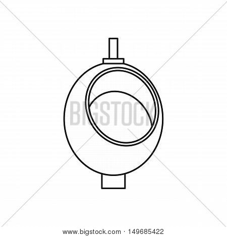 Urinal or chamber pot for men icon in outline style isolated on white background vector illustration