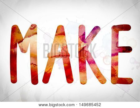Make Concept Watercolor Word Art